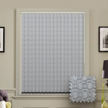 Made to Measure Cavali Silver Vertical Blind